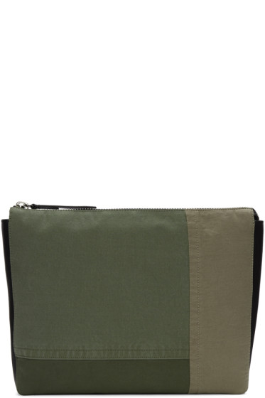 3.1 Phillip Lim - Green Patchwork 31 Hour Document Holder