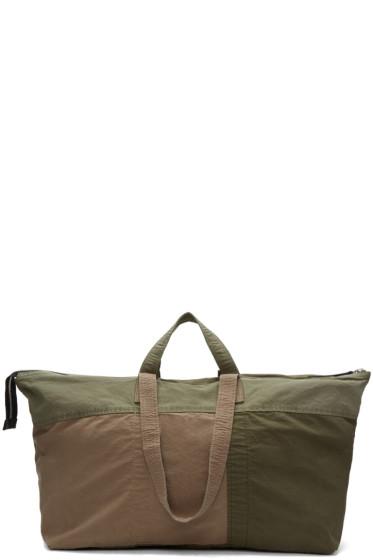 3.1 Phillip Lim - Green Oversized Patchwork Field Bag