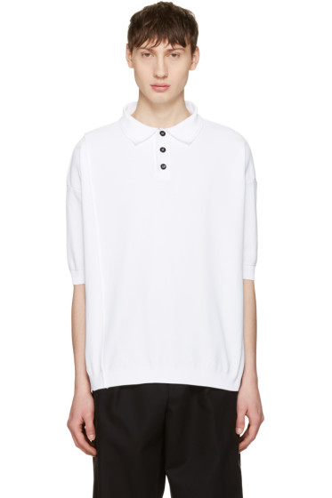 Raf Simons - White Oversized Polo
