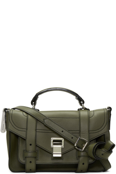 Proenza Schouler - Green Tiny PS1+ Satchel