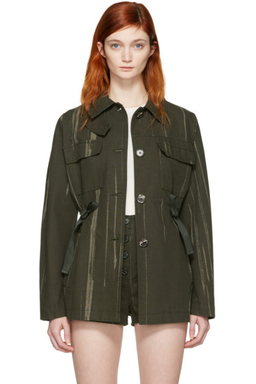Proenza Schouler - Green Printed Canvas Jacket