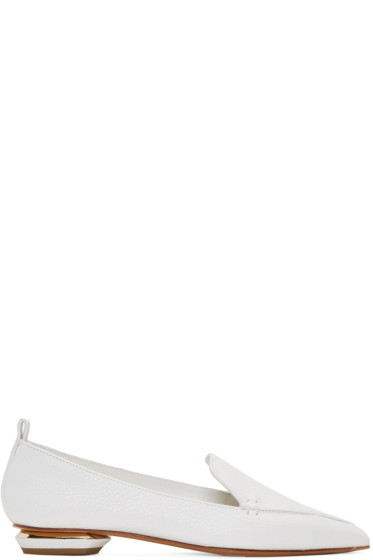 Nicholas Kirkwood - White Leather Beya Loafers