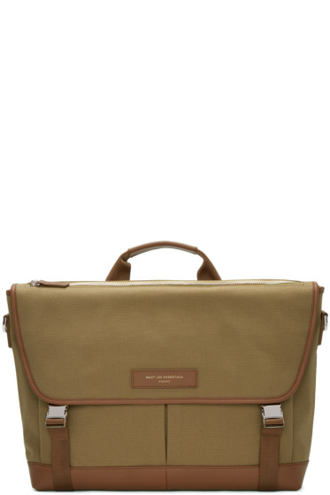 Want Les Essentiels - Beige Canvas Jackson Messenger Bag