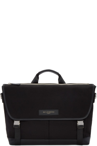 Want Les Essentiels - Black Canvas Jackson Messenger Bag