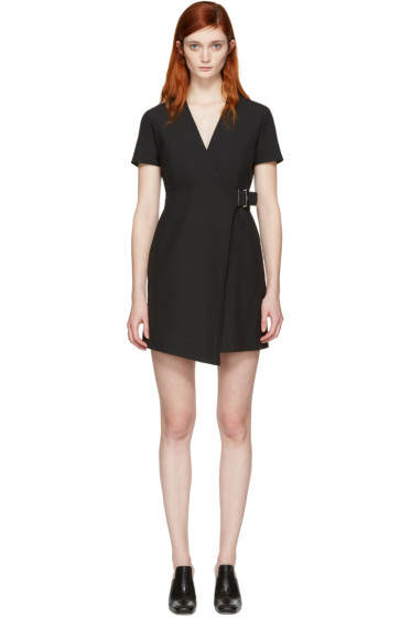 Carven - Black Buckle Dress