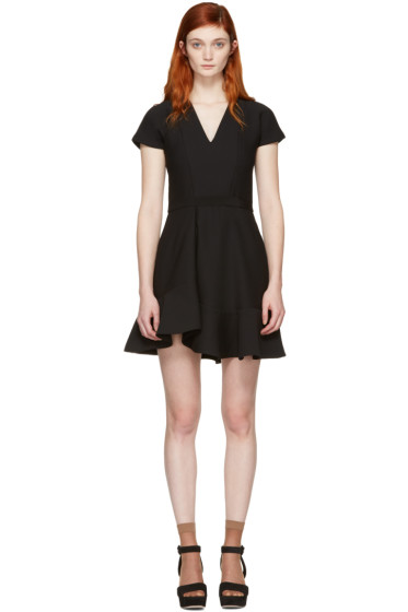 Carven - Black Ruffled Dress