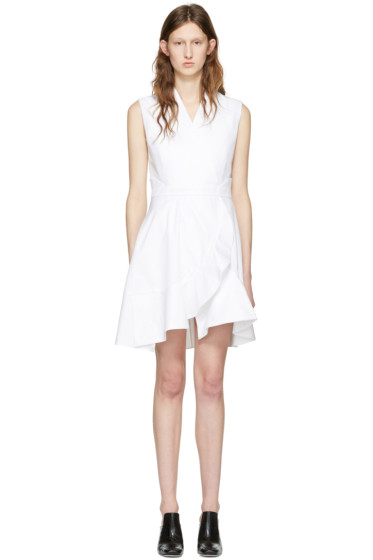 Carven - White Ruffle Dress
