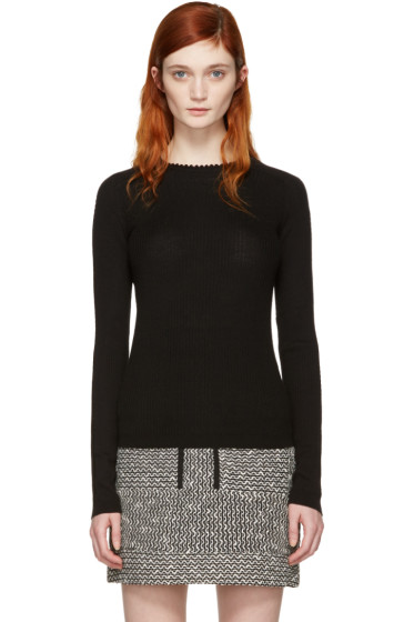 Carven - Black Ribbed Pullover