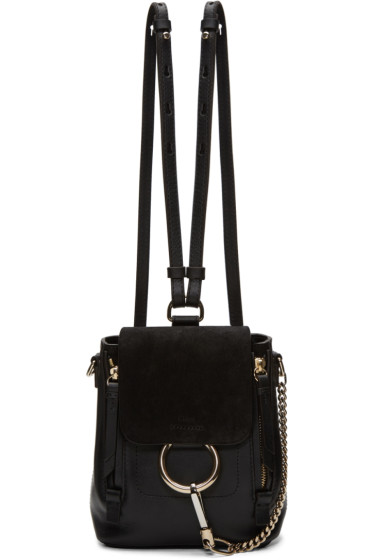 Chloé - Black Small Faye Backpack