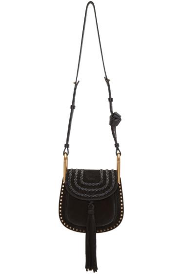 Chloé - Black Suede Mini Hudson Bag