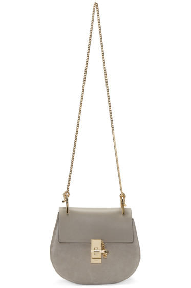 Chloé - Grey Small Drew Saddle Bag