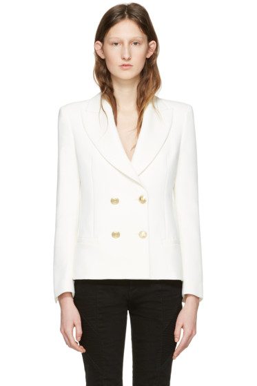 Pierre Balmain - Off-White Classic Fitted Blazer