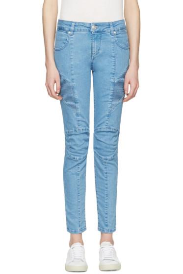Pierre Balmain - Blue Biker Jeans