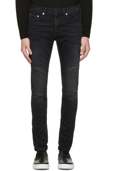 Neil Barrett - Grey Washed Biker Jeans