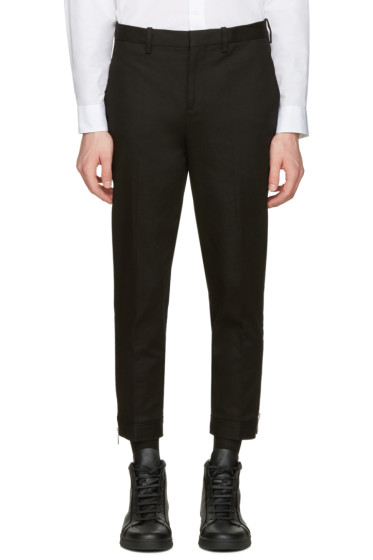 Neil Barrett - Black Cropped Zip Trousers