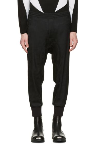 Neil Barrett - Black Wool Camo Slouch Trousers