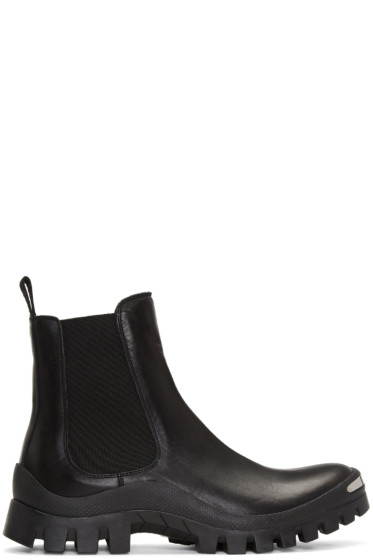 Neil Barrett - Black Zip Chelsea Boots