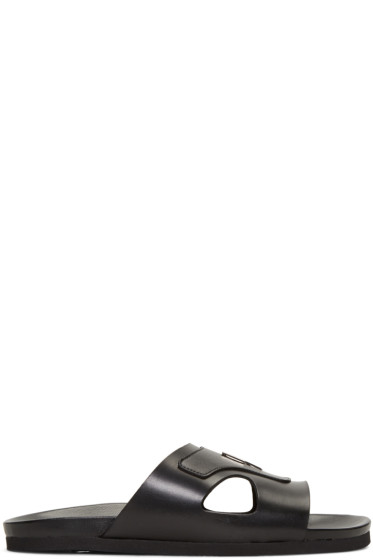 Neil Barrett - Black Thundebolt Sandals