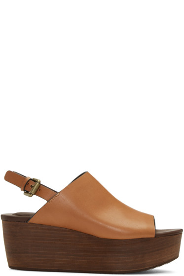 See by Chloé - Tan Romy Platform Sandals