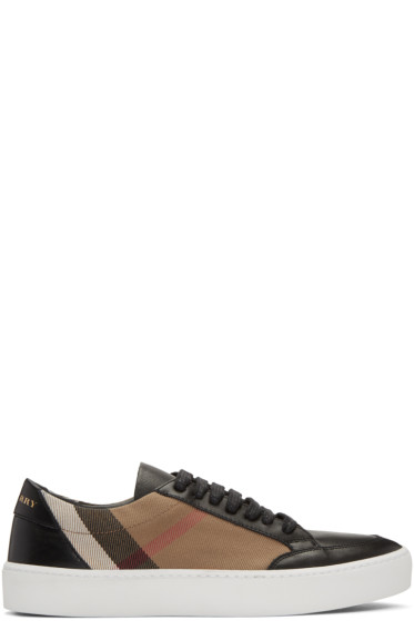 Burberry - Black Salmond Check Sneakers