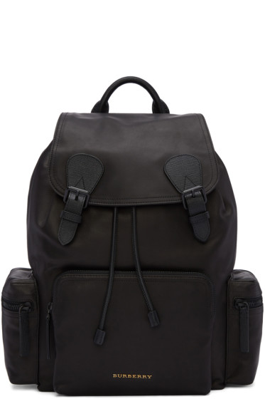 Burberry - Black Large Leather Rucksack