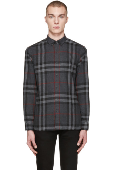 Burberry - Grey Check Ecclestone Shirt