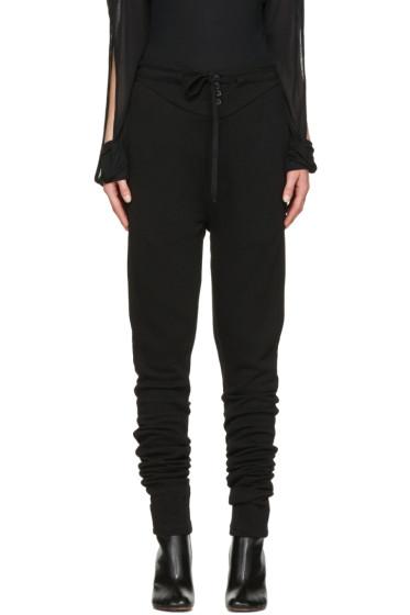 Ann Demeulemeester - Black Tie Lounge Pants