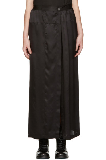 Ann Demeulemeester - Black Long Button Skirt