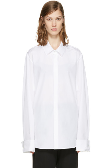 Ann Demeulemeester - White Back Ties Shirt
