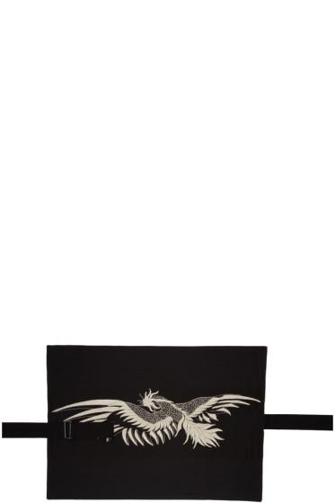 Ann Demeulemeester - Black Embroidered Body Belt