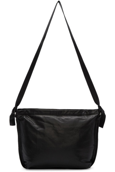 Ann Demeulemeester - Black Leather Messenger Bag