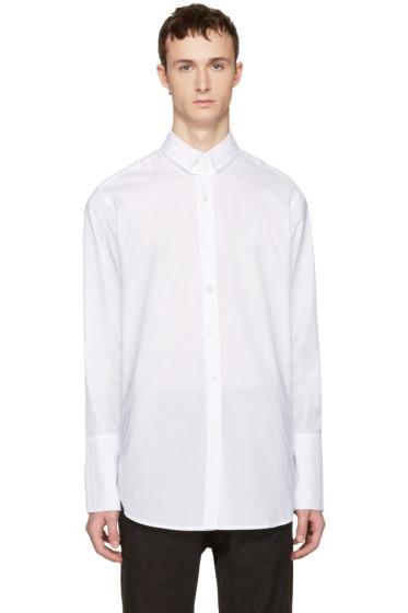 Ann Demeulemeester - White Two Button Shirt