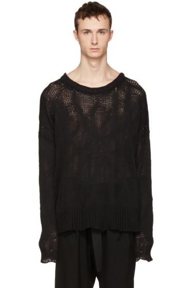 Ann Demeulemeester - Black Heavy Knit Sweater