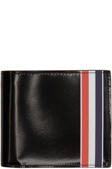 Thom Browne - Black Striped Billfold Wallet