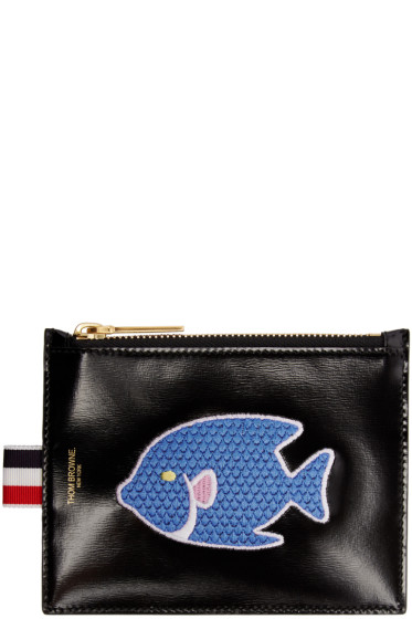 Thom Browne - Black Small Embroidered Coin Purse
