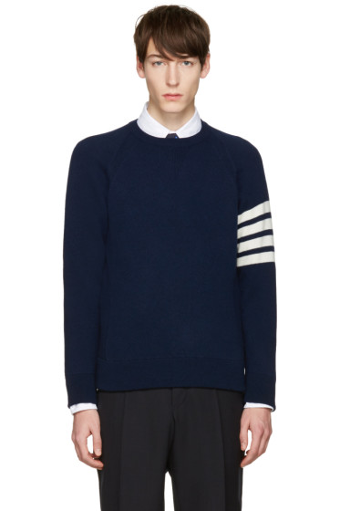 Thom Browne - Navy Cashmere Pullover