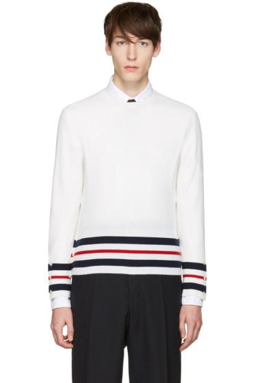 Thom Browne - White Classic Crewneck Short Pullover
