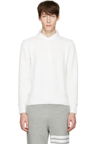 Thom Browne - White Collection Icon Polo