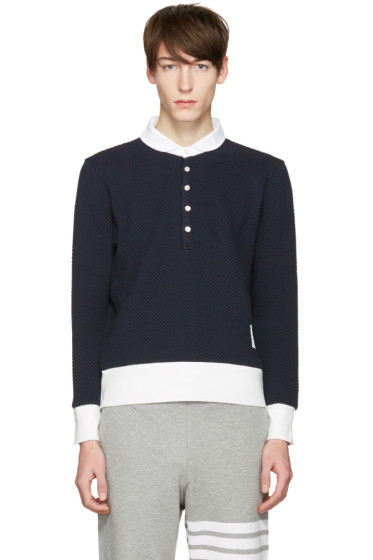 Thom Browne - Navy Collection Icon Polo