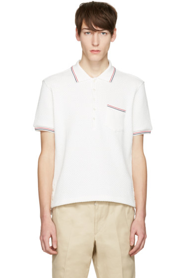 Thom Browne - White Pocket Polo