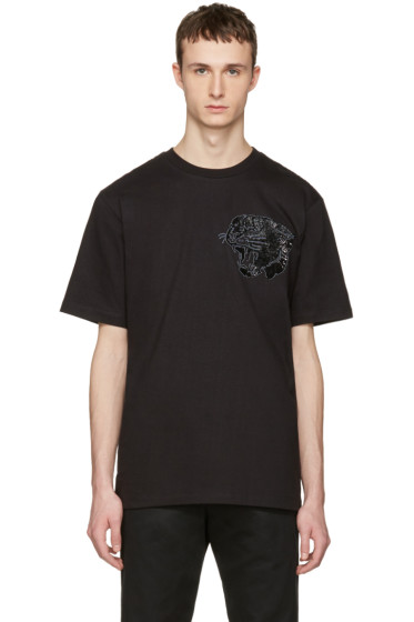 Markus Lupfer - Black Sequin Tiger T-Shirt