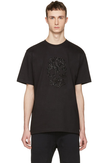 Markus Lupfer - Black Beaded Skull T-Shirt