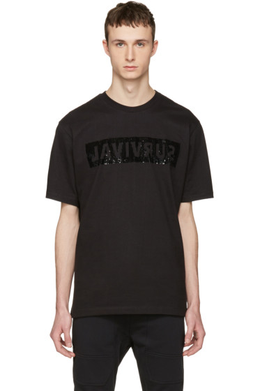 Markus Lupfer - Black Sequin Survival T-Shirt