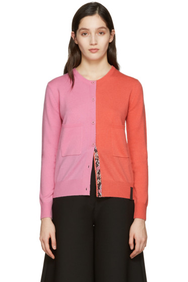 Kenzo - Pink Colorblock Cardigan