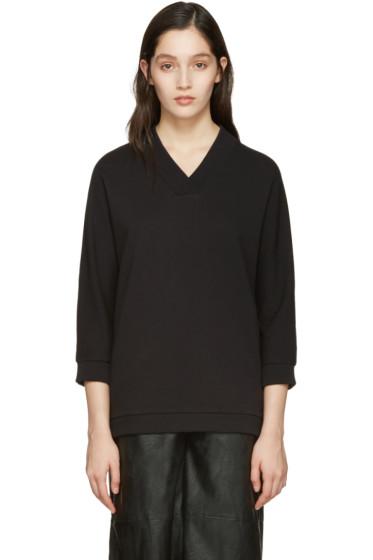 Kenzo - Black V-Neck Logo Pullover
