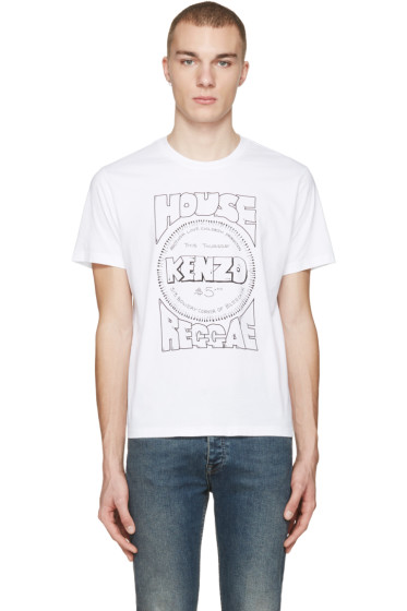 Kenzo - White 'House Reggae' T-Shirt