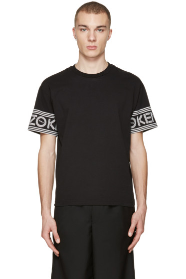 Kenzo - Black Logo Sleeve T-Shirt