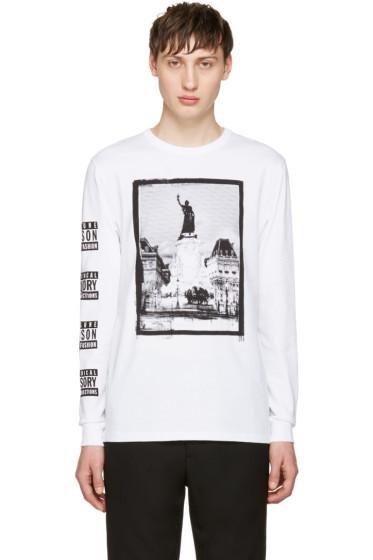 Maison Kitsuné - SSENSE Exclusive White Maison 18 T-Shirt
