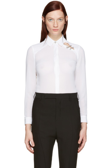 Versus - White Double Pin Shirt