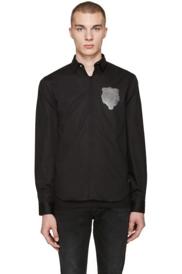 Versus - Black Lion Patch Shirt